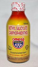 New Latest Stock OMEGA PAIN KILLER Liniment Menthol Large 120ml Fast USA Seller!