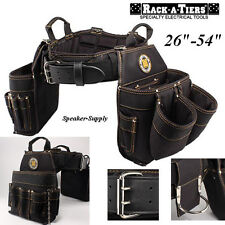 """Rack-A-Tiers Wire Electricians Installers Tool Belt Combo Carpenter 26-54"""" 43242"""