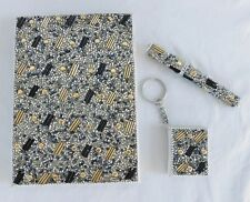 Handcrafted Gold & Black Beaded Journal / Diary with Pen & Keychain