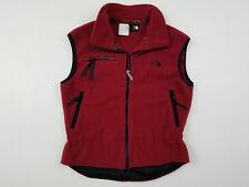 North Face Fleece Vest Women's Medium M Vintage 90s Aztec Print Trim Details Red