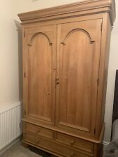 SOLID PINE WOODEN DOUBLE WARDROBE WITH 3 DRAWERS (DOVETAIL JOINTS)