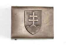 SLOVAK ARMY WW2 ERA REPRO EQUIPMENT BELT BUCKLE AGED
