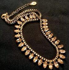 Costume Jewellery Diamanté Smoked Glass/Goldtone Cocktail Necklace (Accessorize)