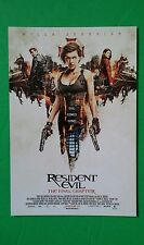 RESIDENT EVIL FINAL CHAPTER CAST MILLA JOVOVICH MOVIE 4X6 POSTCARD SMALL POSTER
