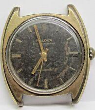 Vintage Gents Bulova 17Jewels Yellow Gold Plated Wrist Watch. 11BLC 2nd Hand.