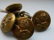 five   2.2cm  royal air force  2ww  RAF  brass uniform buttons by jr gaunt & son