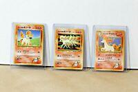 VINTAGE Pokemon TCG - Blaine's Ponyta 077 (2) + Rapidash 078 - Japanese Gym Set