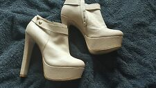 Beige Platform Heels From Rivet island Size 7 UK Eur 40