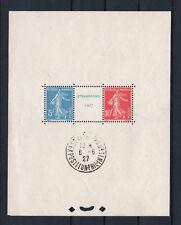"FRANCE BLOC FEUILLET 2 a "" STRASBOURG 1927 "" NEUF xx AVEC CACHET EXPOSITION R621"