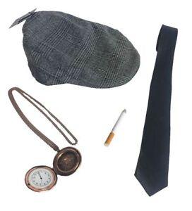 20's Gangster Peaky Blinders Hen / Stag Men's Fancy Dress Costume Accessories
