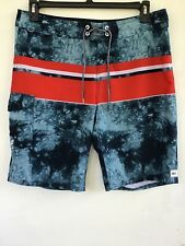 Reef Surfing Board Shorts, Mens Sz 34, Blue, Red, White Design
