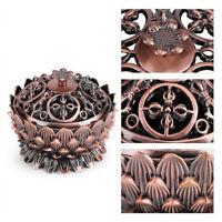 Vintage Lotus Shape Alloy Incense Burner Censer Holder Tool Home Decoration Hot