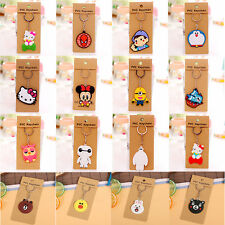 Cartoon Cute Rubber Key Chain Car Keychain Ring Metal Keyring Collection