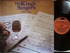 The King's Singers ENCORE LP Vinyl Polydor UK 1971 SUPER 2383 320 @N/M