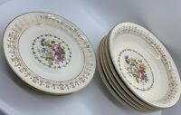 VTG Crooksville China Co Rare Pattern Set 5 Bread Plates #437 5 Bowls #337