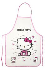 HELLO KITTY APRON Waterproof PVC Cooking & Painting PINK/ PURPLE TRIM USA Seller
