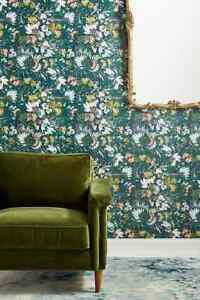 Anthroplogie Kelly Ventura Flowerbed Wallpaper Single Roll 49.5 Sq Ft