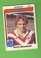 1980  EASTERN SUBURBS ROOSTERS  SCANLENS RUGBY LEAGUE  CARD #37  KERRY BOUSTEAD