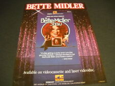 BETTE MIDLER Show on HBO original 1983 music biz PROMO DISPLAY ADVERT mint cond
