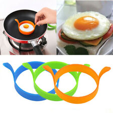 1Pair Premium Silicone Egg Ring Pancake Mold Round Nonstick Omelette Moulds Set