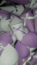 Set 200 Coni portariso/confetti  matrimonio bianco e lilla o scelta GIA'MONTATI