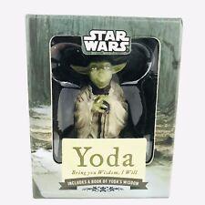 Star Wars Yoda Figurine and Mini Book w/Original Box Book Of Yoda Wisdom