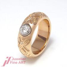 Handgearbeiteter Ring -18K Roségold mit 8K Weißgold - 1 Brillant ca. 0,40 TW/SI