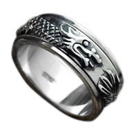 Men's Dragon Spinner Ring Solid 925 Sterling Silver Rotating Ring Gift 8MM Band