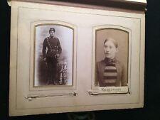Circa 1890 PHOTO ALBUM Soldier w/ SWORD CDV ORIGINAL Over 45 Photograph VA DOG!!