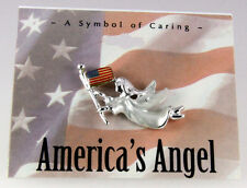 Flag Lapel Pin Brooch Tie T. 6030347 Patriotic Angel Us United States American
