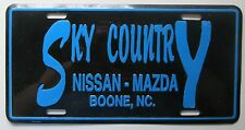 1990's SKY COUNTRY NISSAN-MAZDA DEALERSHIP BOONE NC BOOSTER License Plate