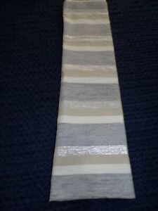 KAS ROOM Zerena Striped Shower Curtain Metallic