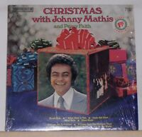 CHRISTMAS WITH JOHNNY MATHIS & PERCY FAITH - LP Record Album - Near Mint Vinyl
