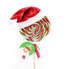 Newest 6PCS Mini Santa Claus Hats Christmas Holiday Lollipop Tops Topper Decors