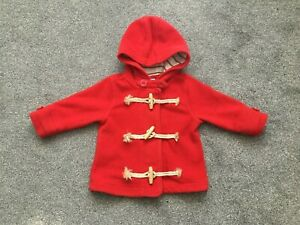 Next Beautiful Baby Girls Red Coat Jacket 9 - 12 Months