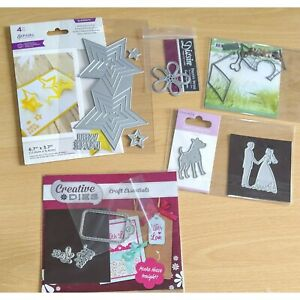 Craft Cutting Die Bundle - Dog, Wedding, Flowers and More - Well Used.