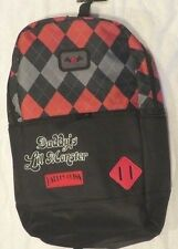 Harley Quinn Daddy's Lil Monster X-Large Argyle Pattern Backpack