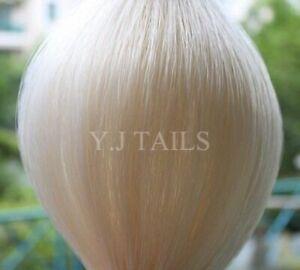 "Pure White Genuine Horse Hair Tail Extension 3/8Lb 28-30"" AQHA w/ FREE BAG W1S"