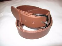 """BIG & TALL Men 1.5"""" Heavy Solid Leather Casual / Work Belt Real Leather no BS"""