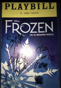Caissie Levy Murin Cast Frozen Disney Musical Cast Signed Broadway Playbill Elsa