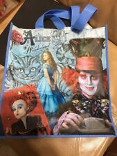 NWT Disney Store Alice In Wonderland Canvas Tote 2010 Movie Collectible