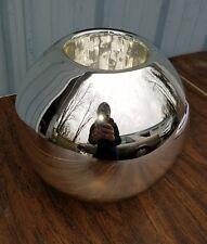 MERCURY GLASS VASE SILVER BALL SHAPE
