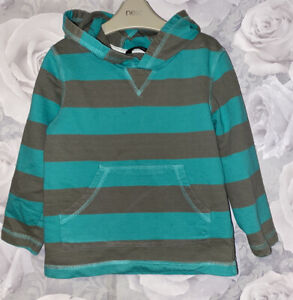 Boys Age 4-5 Years - Striped Hooded Top