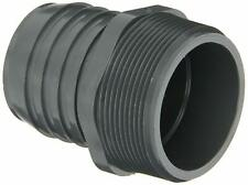 """Spears 1436 Series Pvc Adapter, Schedule 40, Gray, 1 1/2"""" Barbed x Npt Male"""