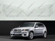 BMW X5 E70 OEM Headlight Glass Headlamp Lens Plastic Cover (PAIR)