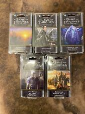 5 Game Of Thrones LCG Chapter Packs - Brand New & Unopened