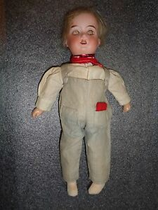 antique Armand Marseille bisque head Floradora Tom Boy doll