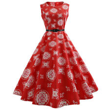 Vintage Style Women 50'S Swing Retro PinupParty Rockabilly Evening Flare Dress