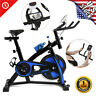 Blue Bicycle Cycling Fitness Exercise Stationary Bike Cardio Home Indoor Workout