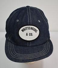 Vtg 1970s Whittenburg & Co Baseball Hat Oklahoma Denim Snapback NOS Texas Cotton